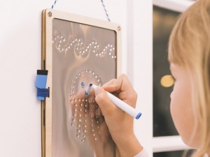 Punched Metal Dry Erase Board