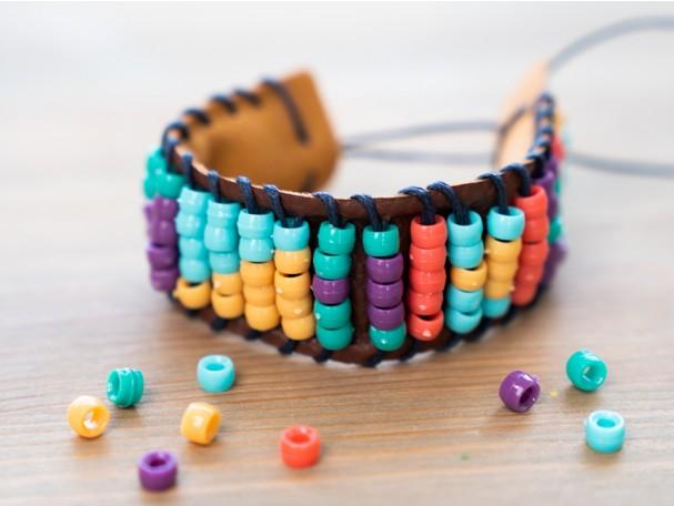 Beaded bracelet from Atlas Crate's Kenya box.
