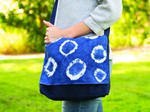 Shibori Messenger Bag